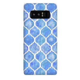 Galaxy Note 8  Cornflower Blue Textured Moroccan Pattern by Micklyn Le Feuvre