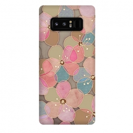 Galaxy Note 8  Simple Floral in Soft Neutrals and Pink by Micklyn Le Feuvre