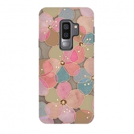 Galaxy S9+  Simple Floral in Soft Neutrals and Pink by Micklyn Le Feuvre