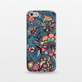 iPhone 5/5E/5s  Sweet Spring Floral - melon pink, butterscotch & teal by Micklyn Le Feuvre