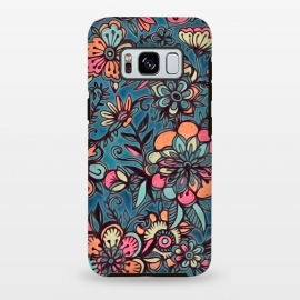 Galaxy S8+  Sweet Spring Floral - melon pink, butterscotch & teal by Micklyn Le Feuvre