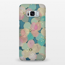 Galaxy S8+  It's Always Summer Somewhere - floral pattern on teal by Micklyn Le Feuvre