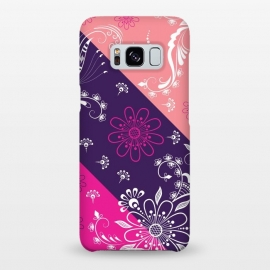 Galaxy S8+  Diagonal Flowers by Rossy Villarreal