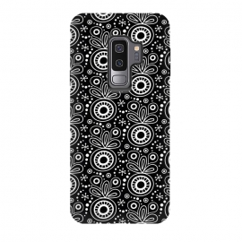 Galaxy S9+  Abstract Doodle Pattern Black by Majoih