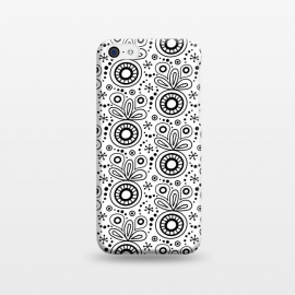iPhone 5C  Abstract Doodle Pattern White by Majoih