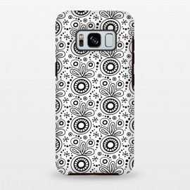 Galaxy S8 plus  Abstract Doodle Pattern White by