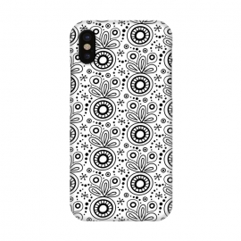iPhone X  Abstract Doodle Pattern White by Majoih