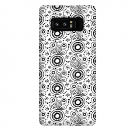 Galaxy Note 8  Abstract Doodle Pattern White by Majoih
