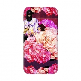 iPhone X  Hortencias Rosas y Azules by Rossy Villarreal