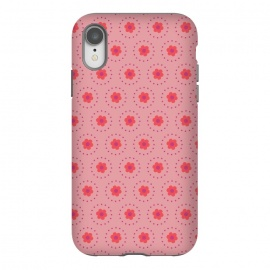 iPhone Xr  Pink Circular Floral by Rosie Simons ()