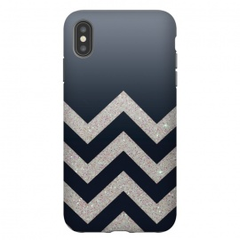 Chevron Block Silver Grey by Monika Strigel