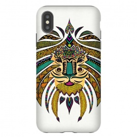 iPhone Xs Max  Emperor Tribal Lion by Pom Graphic Design