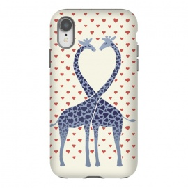 iPhone Xr  Giraffes in Love a Valentine's Day illustration by Micklyn Le Feuvre