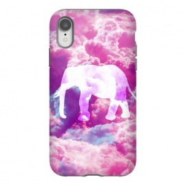 iPhone Xr  Elephant on Pink Purple Clouds by  ()