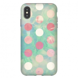 iPhone Xs Max  Polka Dots Watercolor Front by Girly Trend
