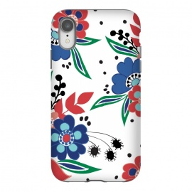 iPhone Xr  BrightFolk by Dunia Nalu (floral,flowers,flower,nature,folk,bouquet,pattern)