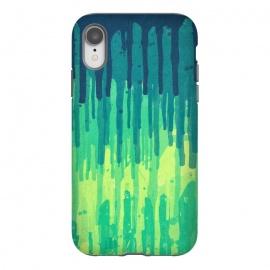 iPhone Xr  Green Grunge Color Splatter Graffiti Backstreet Wall by  ()