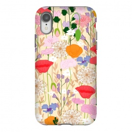 iPhone Xr  Wildflowers Cream Square by Zoe Charlotte ()