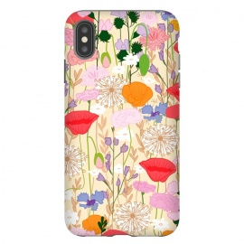 iPhone Xs Max  Wildflowers Cream Square by Zoe Charlotte ()