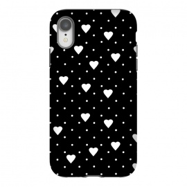iPhone Xr  Pin Point Hearts White by Project M ()