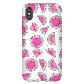 iPhone Xs Max  Watermelons by Laura Grant (watermelon ,fruit,tropical)