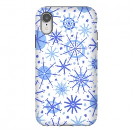 iPhone Xr  Snowflake Twinkle Blue by Rhiannon Pettie
