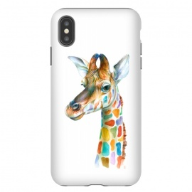 iPhone Xs Max  Colorful Giraffe by Brandon Keehner