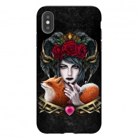 iPhone Xs Max  Winya 50 by Winya (women,lady girl,cute,fox,kid fox,dog,animal,nature,horror,indian,cruel,amazon,eyes,tattoo,culture,art line,chicano,neo traditional,tattoo style,great,awesome,amazing,wonderful,line work,biker,rocker,modern,indy,teen,sweet,crow,bird,raven,flag,hell,roses,antler,horn,mind,heart,spirit,mentality,psych,)