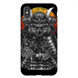 iPhone Xs Max  Winya 63 by Winya (ronin,martial,katana,bushido,tattoo art,bird,owl,samurai,war,dark,art line,horror,animal,line work,spaulder,fighter,warrior,japan,suit of armor,hip ster,fantasy,monster,spirit,pop culture,surrealism,protective mask workwear,face guard sport,mask disguise,emperor,japanese culture,sword,ancient,cultur)
