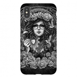 iPhone Xs Max  Winya 84 by Winya (chicano,neo traditional,tattoo style,black and white,tattoo,surreal,witch,magic,occult,culture,art line,line work,death metal,death,baroque,victorian,streem punk,gothic,pop culture,dark,sacred geometry,fantasy,mystical,sacred,creepy,fairy,angel,myth,queen,roses,hummingbird,bird,animal,key,heart,glas)