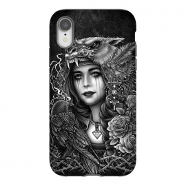 iPhone Xr  Winya 93 by Winya (chicano,neo traditional,tattoo style,black and white,tattoo,surreal,witch,magic,occult,culture,art line,line work,death metal,death,baroque,victorian,streem punk,gothic,pop culture,dark,sacred geometry,fantasy,diamond,mystical,sacred,creepy,fairy,angel,crow,rook,myth,queen,lion,roses,animal,lady,wom)