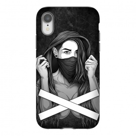 iPhone Xr  Winya 100 by  (women,sex,pinup,manga,comics,tattoo design,art line,nice,line work,girl,lady,street art,hipster,sexy,beautiful,skateboard tee,skate wear,street wear,hip,street fashion,casual wear,skate clothing,rebellion,rebel,fight,gangster,chicano,tattoo style,black and white,bad ass,pop culture,punk,hip hop,ska,)