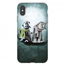 iPhone Xs Max  Cat and Owl by Tummeow ()