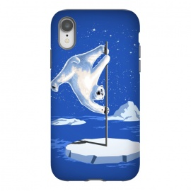 iPhone Xr  North Pole Dancer by  (northpole,pole dancing,polar bear,pole dancer,poledancing,ice,animal,white,cool)