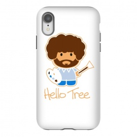 iPhone Xr  hello tree by Manos Papatheodorou (art, bob ross, hello tree, hello kitty, funny,parody,happy little trees)