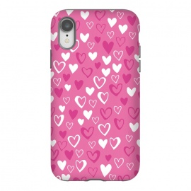 iPhone Xr  Pink Lovehearts by  (Pink,Hearts,loveheart,valentines,romance)