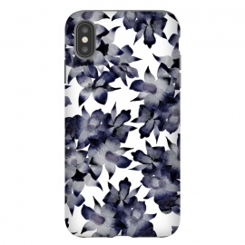 Night Orchid by Amaya Brydon (floral,orchid,flower,pattern,black,grey,navy)