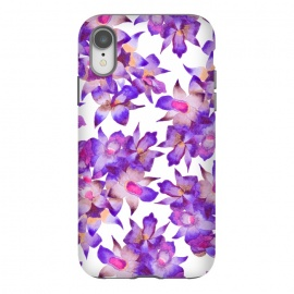 iPhone Xr  Vintage Floral Violet by Amaya Brydon (orchid,floral,nature,purple,pink,botanical)