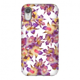 iPhone Xr  Vintage Floral by Amaya Brydon (rchid,floral,pattern,botanical)