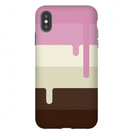 iPhone Xs Max  Neapolitan Ice Cream by Dellán (Ice cream, neapolitan,summer,spring,cold,gender neutral,gourmet,fresh,ice pop)
