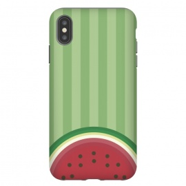 iPhone Xs Max  Watermelon Pop by Dellán (watermelon,fruit,gourmet,tropical,beach,summer,spring,fresh,minimalist)