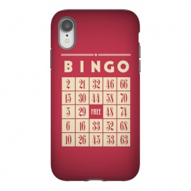 iPhone Xr  Bingo! by Dellán (games,hobby,tabletop game,retro,bingo,numbers,vintage,geek)