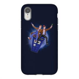 iPhone Xr  THE DOCTOR'S TIMEY-WIMEY ADVENTURE by SKULLPY (DR WHO,BILL AND TED,MOVIES, TV SHOW,TARDIS,DOCTOR,NERD, NERDY,MASHUP,10TH DOCTOR, 11TH DOCTOR,POP)