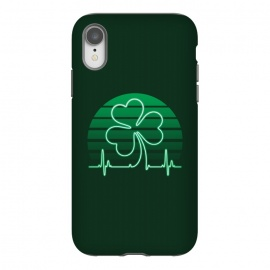iPhone Xr  IRISH-HEART by RAIDHO (IRISH,ST.PATRICK'S-DAY,CLOVER,HEART,cardiogramm)