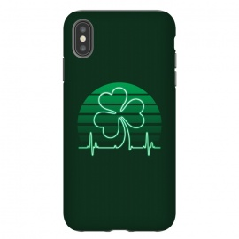 iPhone Xs Max  IRISH-HEART by RAIDHO (IRISH,ST.PATRICK'S-DAY,CLOVER,HEART,cardiogramm)