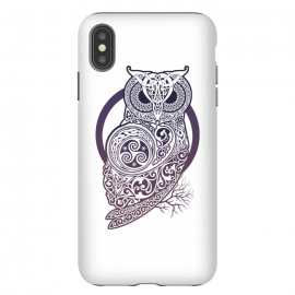 iPhone Xs Max  CELTIC OWL by RAIDHO (owl,celtic,celtic-knotwork,knotwork,celtic-spirals)