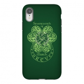 iPhone Xr  MARCH 17th by RAIDHO (st.patrick's day,irish,celtic,clover,irish dance,love,celtic knots,knotwork)