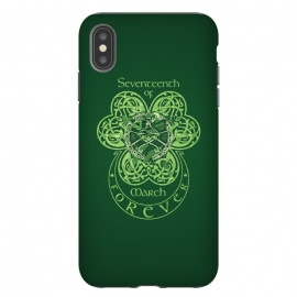 iPhone Xs Max  MARCH 17th by RAIDHO (st.patrick's day,irish,celtic,clover,irish dance,love,celtic knots,knotwork)