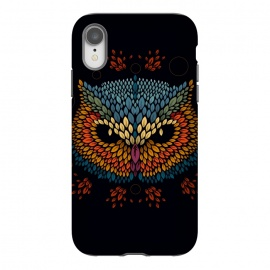 iPhone Xr  Owl Face by Q-Artwork (vector,animal,owl,leaves,leaf,pattern,nature,bird,geometric)
