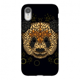 iPhone Xr  Panda face by Q-Artwork (panda,animal,leaves,leaf,pattern,nature,vector,geometric)